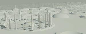Immobilier, Edouard Denis promotion, programme de logements neufs à Parempuyre, Création de potagers individuels en forme de disques au sein d'un jardin de graminées, de nappes d'aromatiques et de vergers, cheminements piétons au coeur d'un écrin forestier